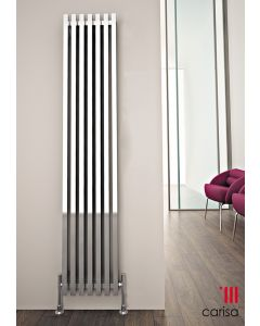 Carisa Zara Steel Chrome Vertical Designer Radiator