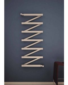 Carisa Zigzag Stainless Steel Designer Heated Towel Rail